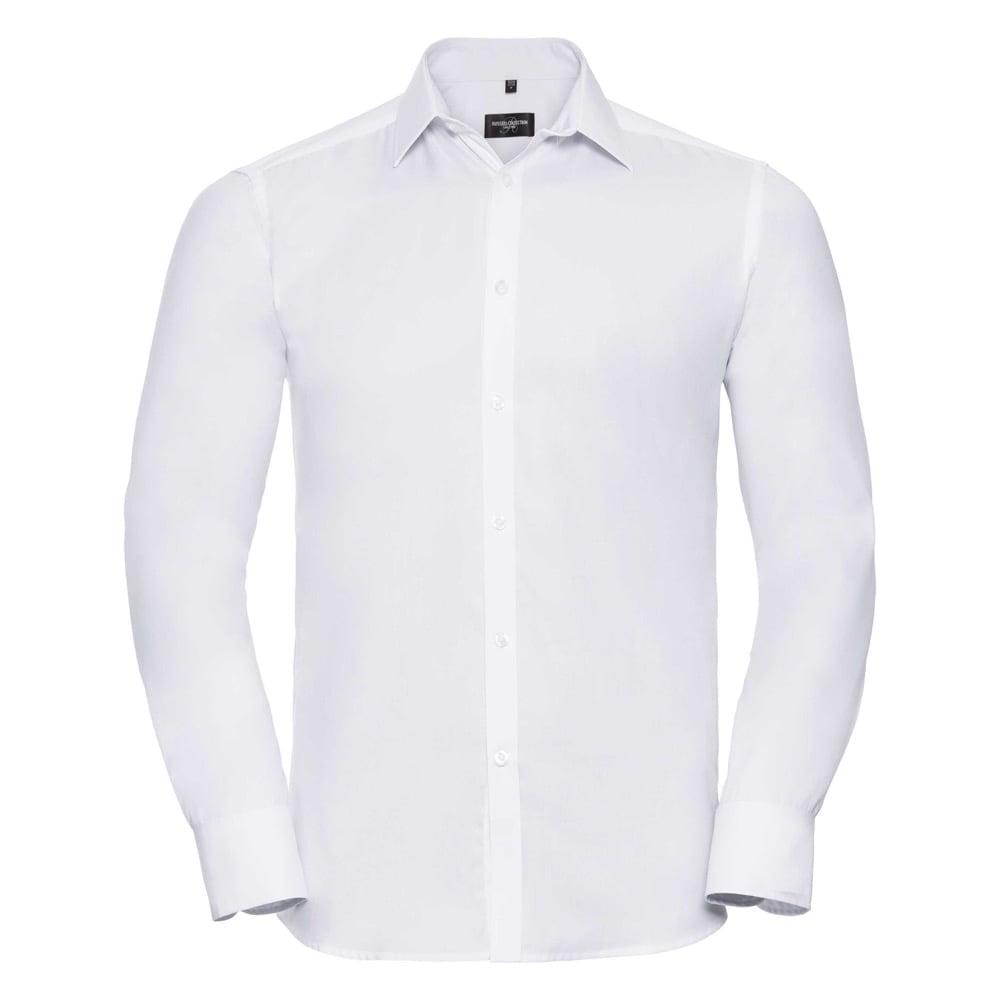 Męska taliowana koszula Herringbone