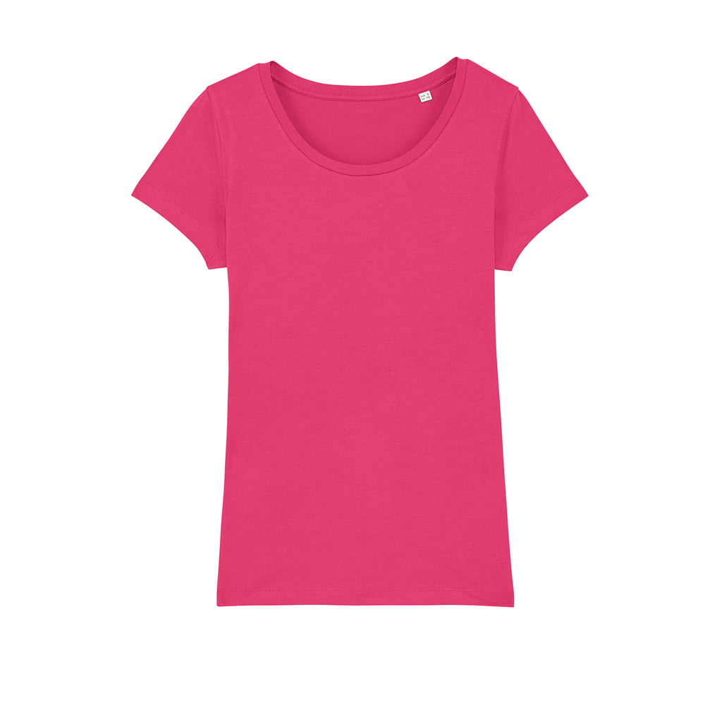 Koszulki T-Shirt - Damski T-shirt Stella Lover - STTW017 - Raspberry - RAVEN - koszulki reklamowe z nadrukiem, odzież reklamowa i gastronomiczna