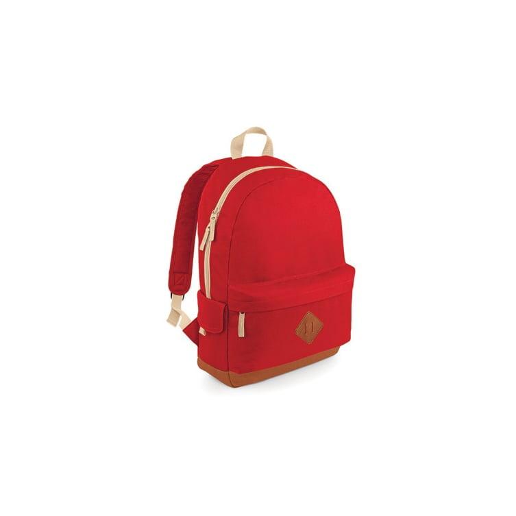 Torby i plecaki - Heritage Backpack - BG825 - Red - RAVEN - koszulki reklamowe z nadrukiem, odzież reklamowa i gastronomiczna