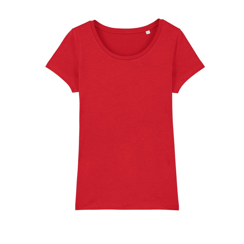 Koszulki T-Shirt - Damski T-shirt Stella Lover - STTW017 - Red - RAVEN - koszulki reklamowe z nadrukiem, odzież reklamowa i gastronomiczna
