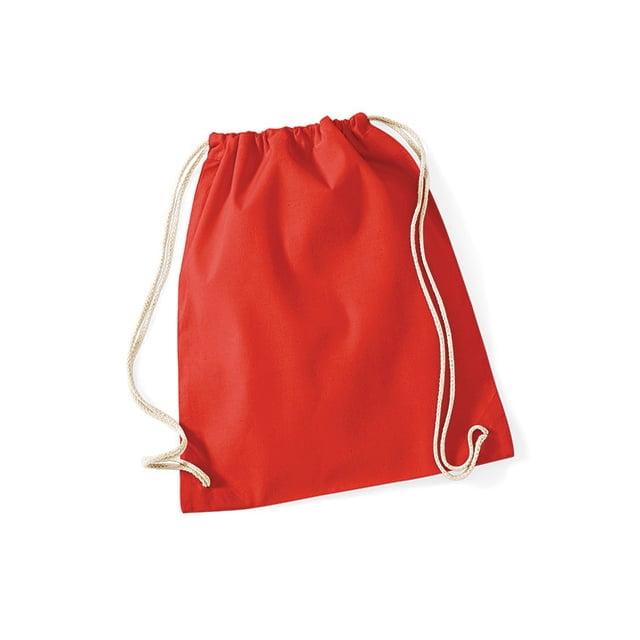 Torby i plecaki - Worek festiwalowy Cotton Gym - W110 - Bright Red - RAVEN - koszulki reklamowe z nadrukiem, odzież reklamowa i gastronomiczna