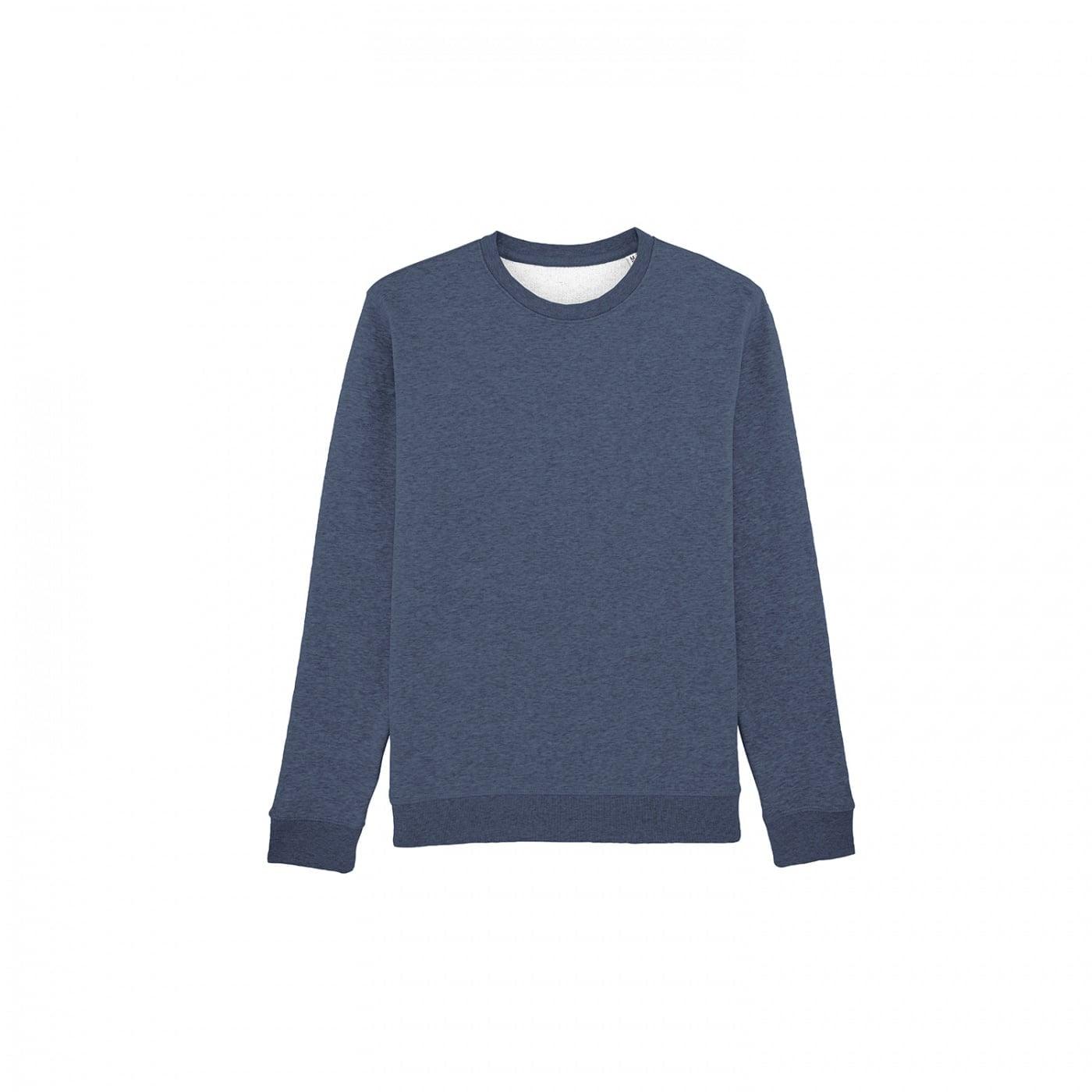 Bluzy - Bluza Crewneck Rise - Stanley/Stella STSU811 - Dark Heather Blue - RAVEN - koszulki reklamowe z nadrukiem, odzież reklamowa i gastronomiczna