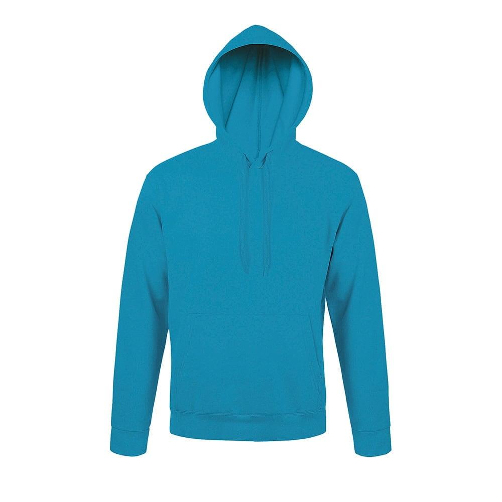 Bluzy - Bluza z kapturem Snake - Sol's 47101 - Aqua - RAVEN - koszulki reklamowe z nadrukiem, odzież reklamowa i gastronomiczna