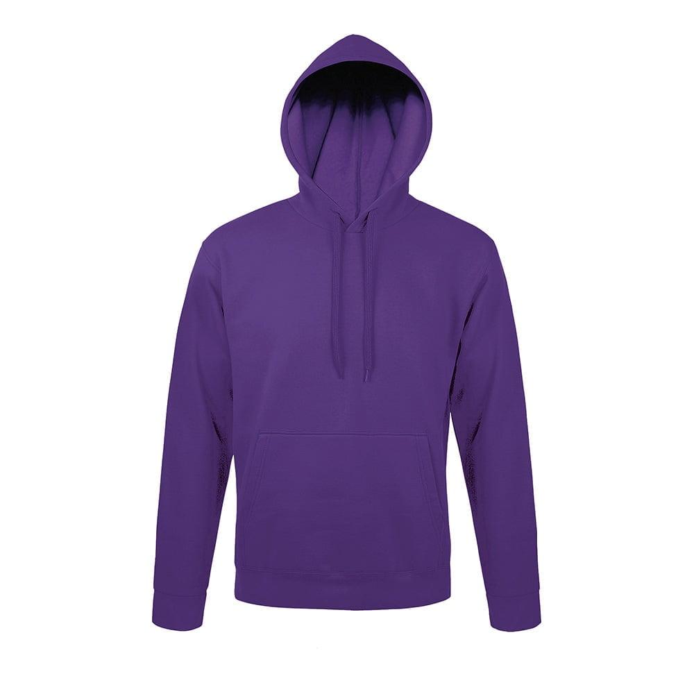 Bluzy - Bluza z kapturem Snake - Sol's 47101 - Dark Purple - RAVEN - koszulki reklamowe z nadrukiem, odzież reklamowa i gastronomiczna