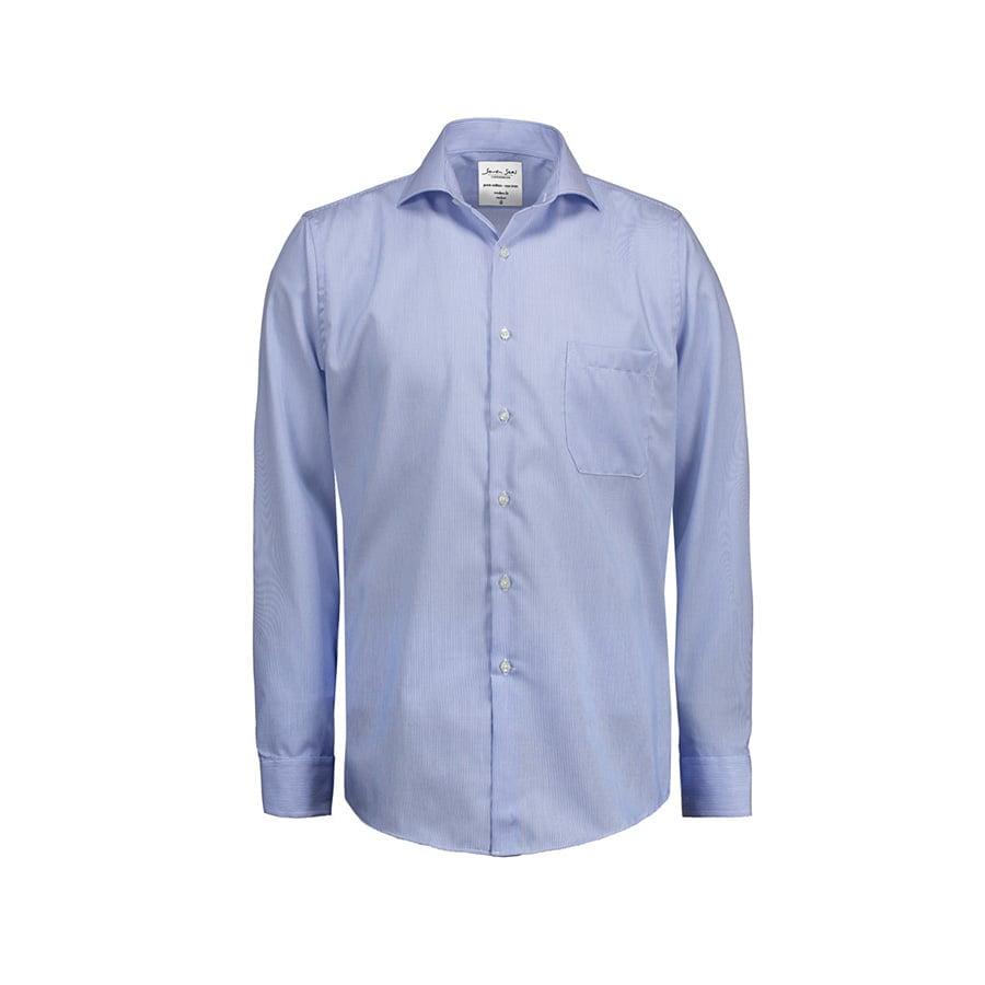 Biznesowa koszula w drobne prążki z tkaniny fine twill SS20