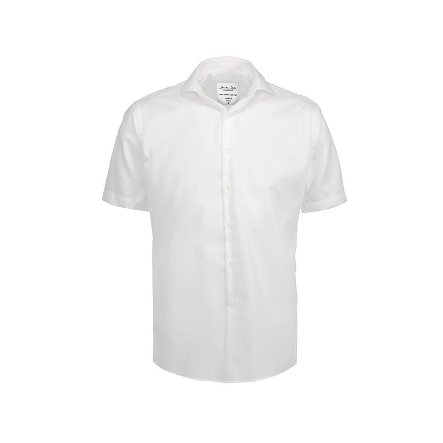 Koszule i bluzki - Biznesowa koszula z tkaniny fine twill z wykończeniem non iron SS254 - Seven Seas SS254 - White - RAVEN - koszulki reklamowe z nadrukiem, odzież reklamowa i gastronomiczna