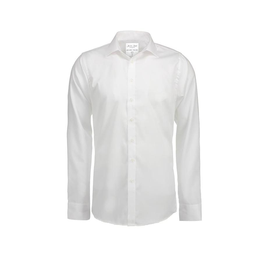 Koszule i bluzki - Biznesowa koszula z tkaniny fine twill z wykończeniem non iron SS30 - Seven Seas SS30 - White - RAVEN - koszulki reklamowe z nadrukiem, odzież reklamowa i gastronomiczna