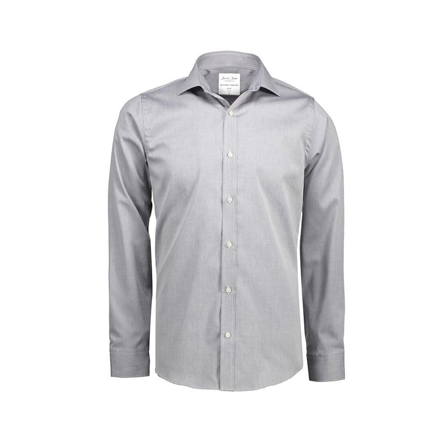 Biznesowa koszula z tkaniny fine twill z wykończeniem non iron SS30