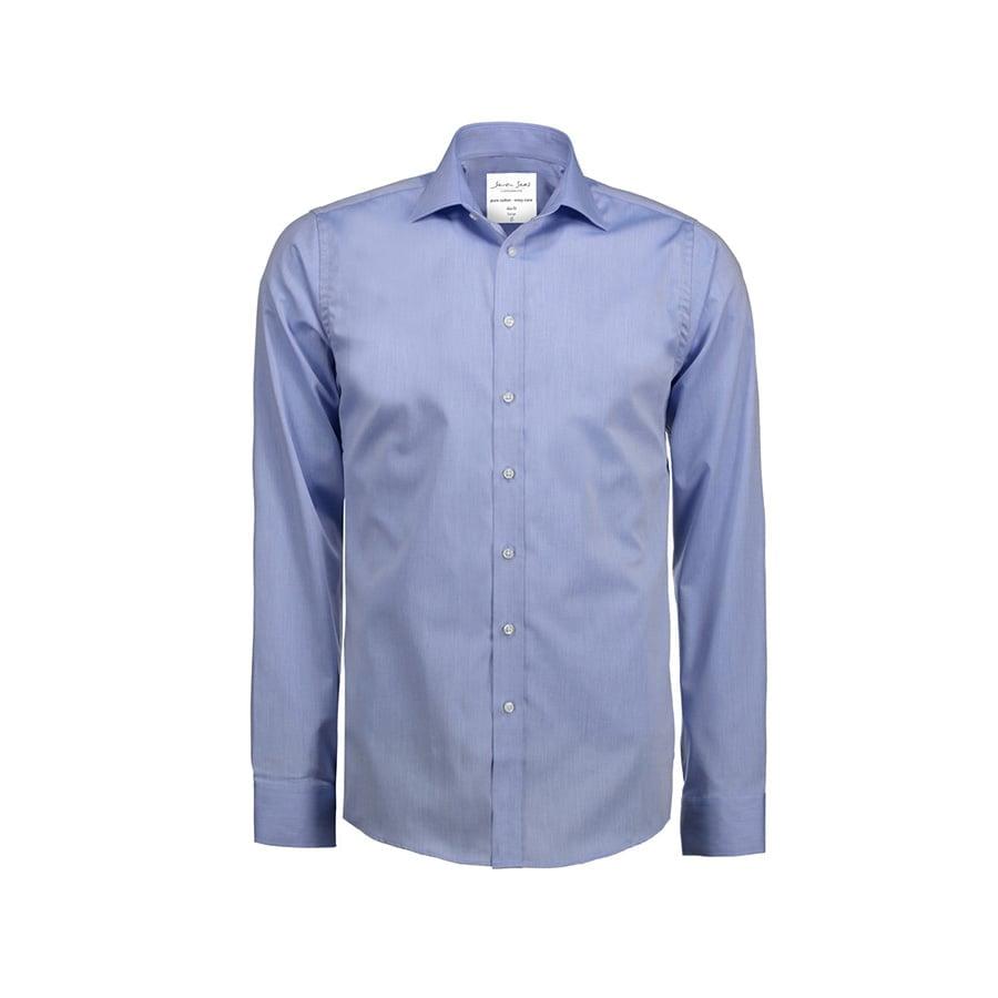 Koszule i bluzki - Biznesowa koszula z tkaniny fine twill z wykończeniem non iron SS30 - Seven Seas SS30 - Light Blue - RAVEN - koszulki reklamowe z nadrukiem, odzież reklamowa i gastronomiczna