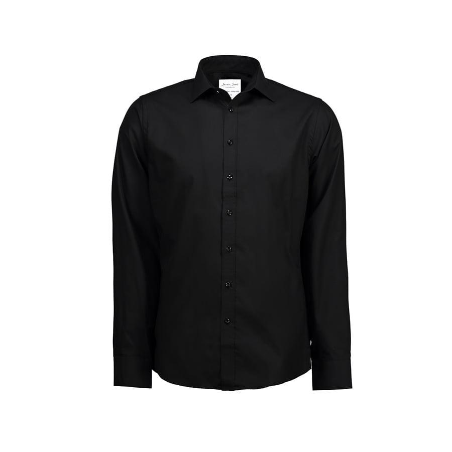Koszule i bluzki - Biznesowa koszula z tkaniny fine twill z wykończeniem non iron SS30 - Seven Seas SS30 - Black - RAVEN - koszulki reklamowe z nadrukiem, odzież reklamowa i gastronomiczna