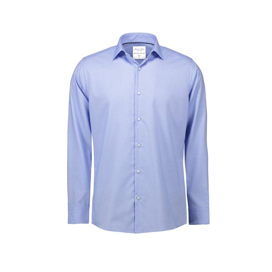 Koszule i bluzki - Elegancka koszula biznesowa z tkaniny Oxford Slim Fit SS311 - SS311 - Light Blue - RAVEN - koszulki reklamowe z nadrukiem, odzież reklamowa i gastronomiczna
