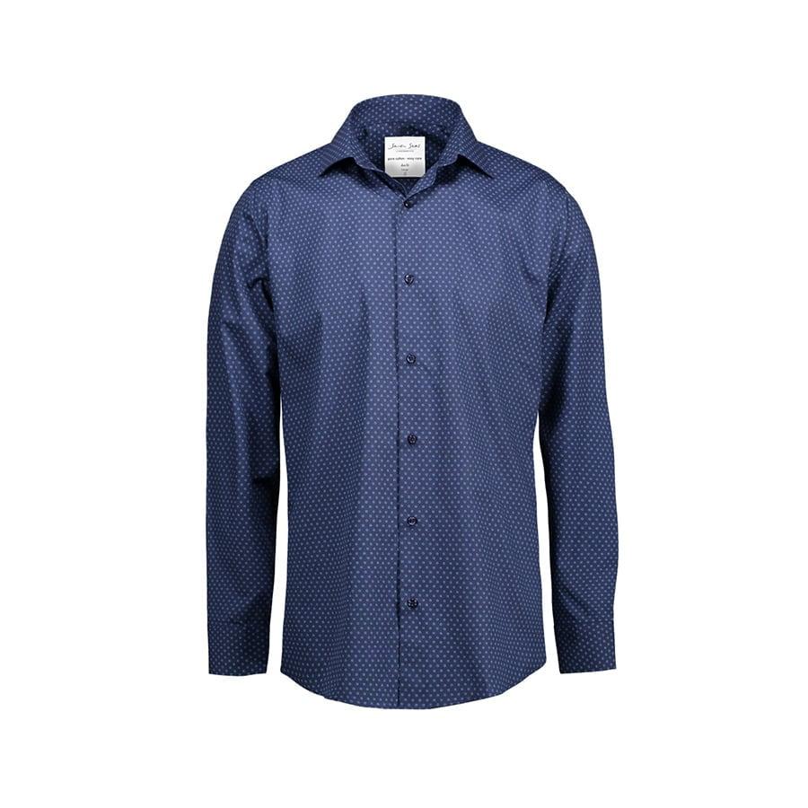 Koszula z nadrukiem z tkaniny z wykończeniem easy-care Slim SS343
