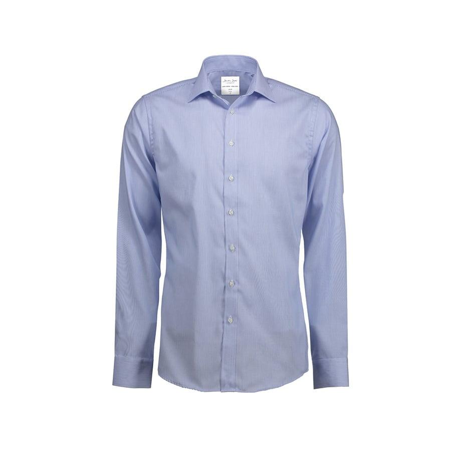 Biznesowa koszula w drobne prążki z tkaniny fine twill SS37