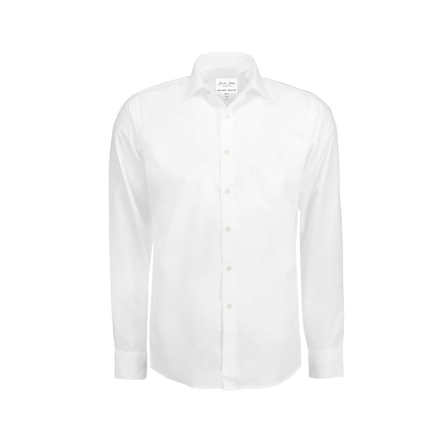 Prosta i klasyczna koszula z miękkiej popeliny SS402