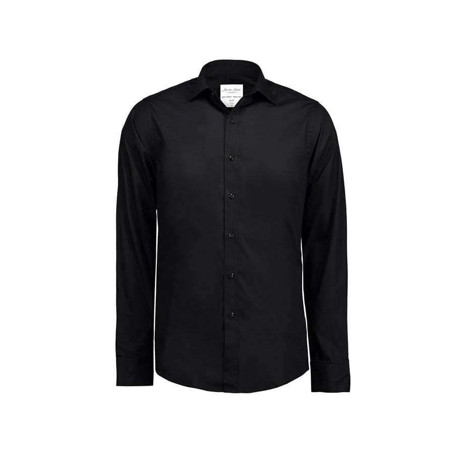 Koszule i bluzki - Prosta i klasyczna koszula z miękkiej popeliny SS402 - Seven Seas SS402 - Black - RAVEN - koszulki reklamowe z nadrukiem, odzież reklamowa i gastronomiczna