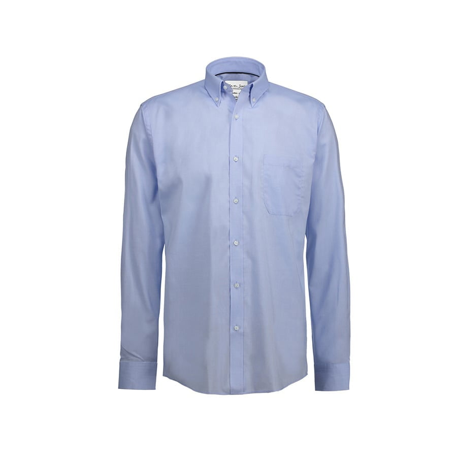 Koszule i bluzki - Koszula Oxford z kołnierzykiem na guziki SS56 - Seven Seas SS56 - Light Blue - RAVEN - koszulki reklamowe z nadrukiem, odzież reklamowa i gastronomiczna