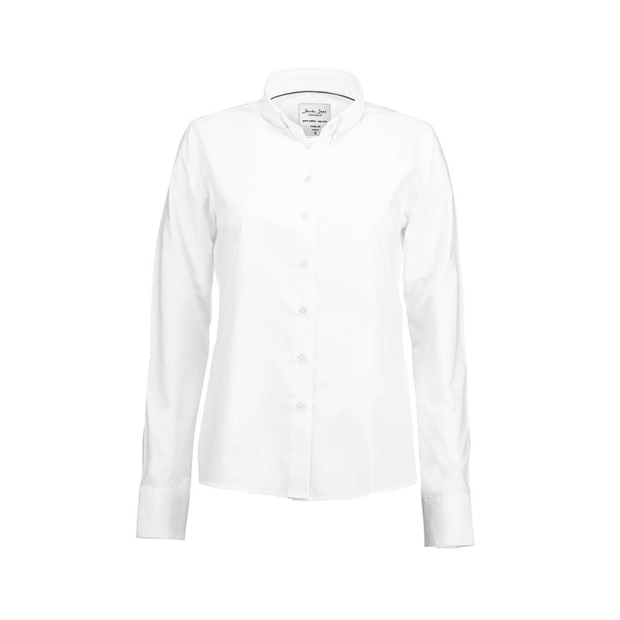 Koszule i bluzki - Prosta i klasyczna bluzka z miękkiej popeliny SS710 - Seven Seas SS710 - White - RAVEN - koszulki reklamowe z nadrukiem, odzież reklamowa i gastronomiczna
