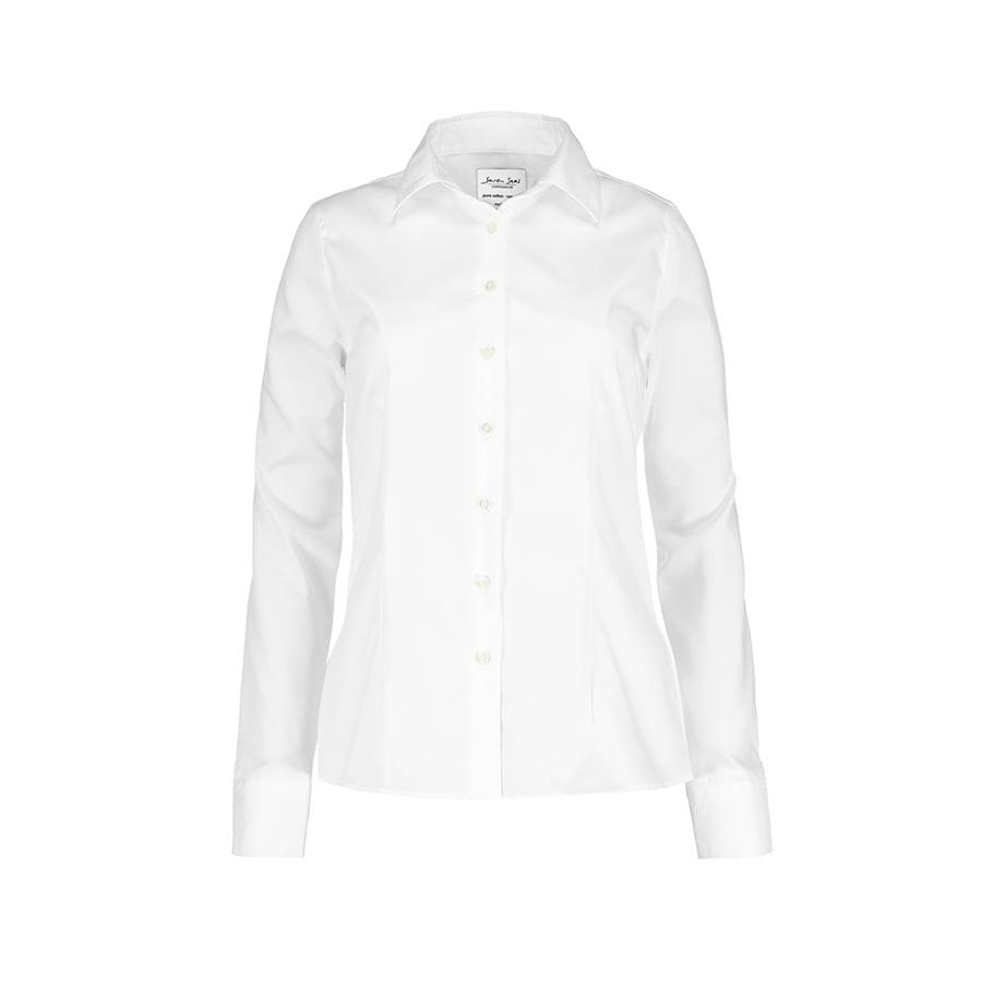 Koszule i bluzki - Biznesowa bluzka z tkaniny fine twill z wykończeniem non iron SS720 - Seven Seas SS720 - White - RAVEN - koszulki reklamowe z nadrukiem, odzież reklamowa i gastronomiczna