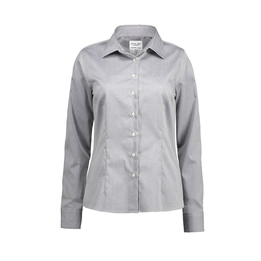 Koszule i bluzki - Biznesowa bluzka z tkaniny fine twill z wykończeniem non iron SS720 - Seven Seas SS720 - Silver Grey - RAVEN - koszulki reklamowe z nadrukiem, odzież reklamowa i gastronomiczna
