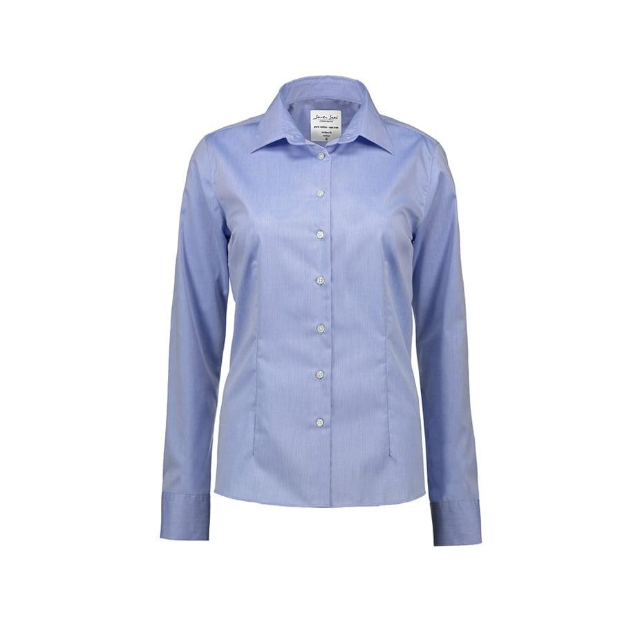 Koszule i bluzki - Biznesowa bluzka z tkaniny fine twill z wykończeniem non iron SS720 - Seven Seas SS720 - Light Blue - RAVEN - koszulki reklamowe z nadrukiem, odzież reklamowa i gastronomiczna