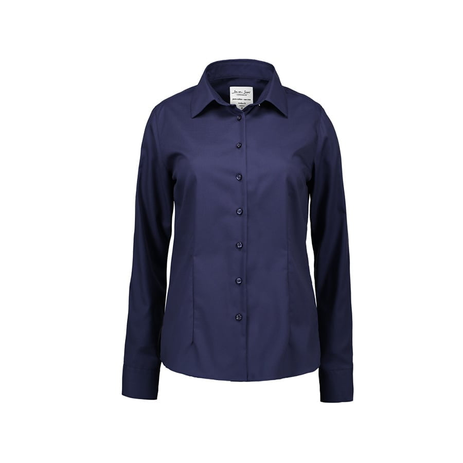 Biznesowa bluzka z tkaniny fine twill z wykończeniem non iron SS720
