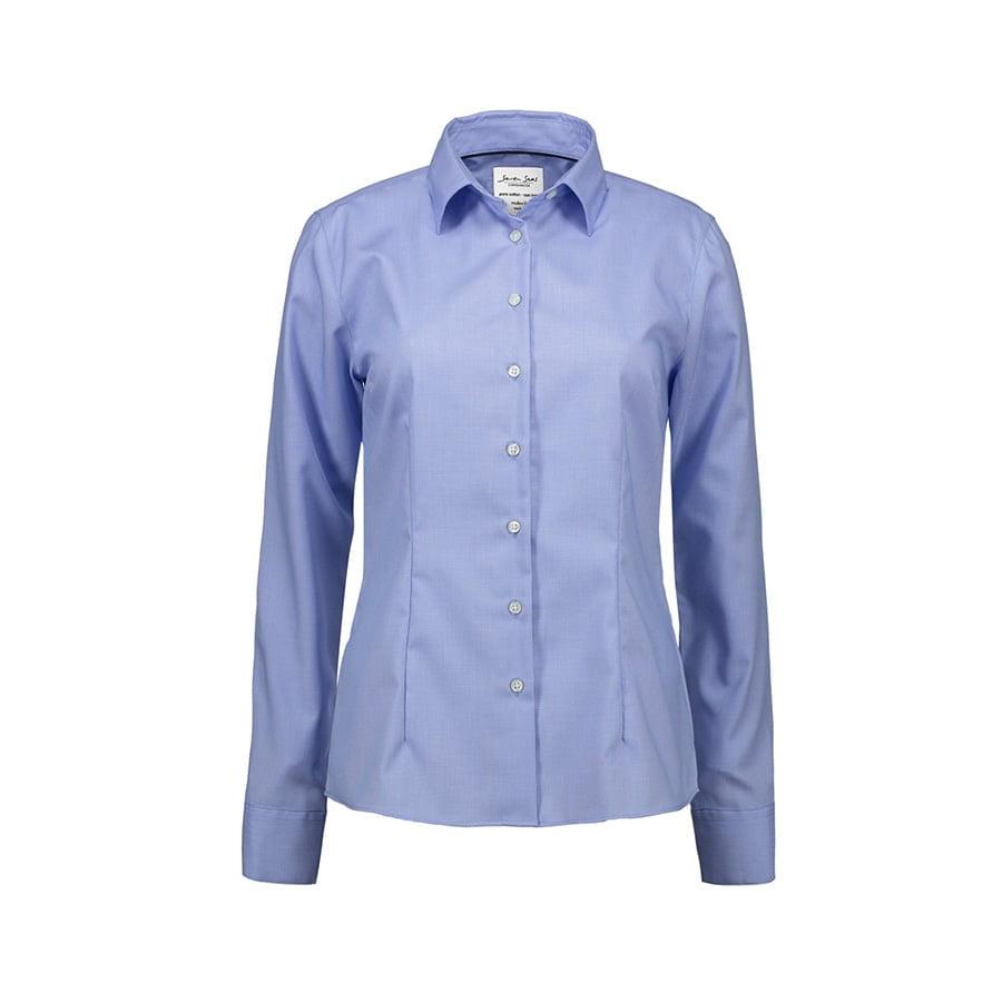 Koszule i bluzki - Elegancka bluzka biznesowa Oxford z wykończeniem non-iron SS740 - Seven Seas SS740 - Light Blue - RAVEN - koszulki reklamowe z nadrukiem, odzież reklamowa i gastronomiczna