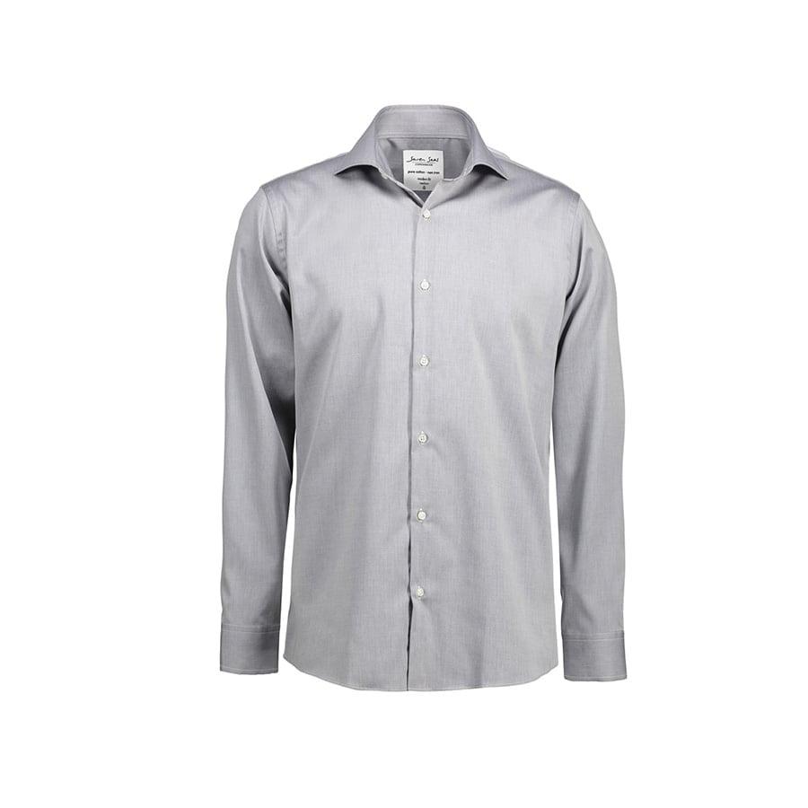 Koszule i bluzki - Biznesowa koszula z tkaniny fine twill SS8 - Seven Seas SS8 - Silver Grey - RAVEN - koszulki reklamowe z nadrukiem, odzież reklamowa i gastronomiczna
