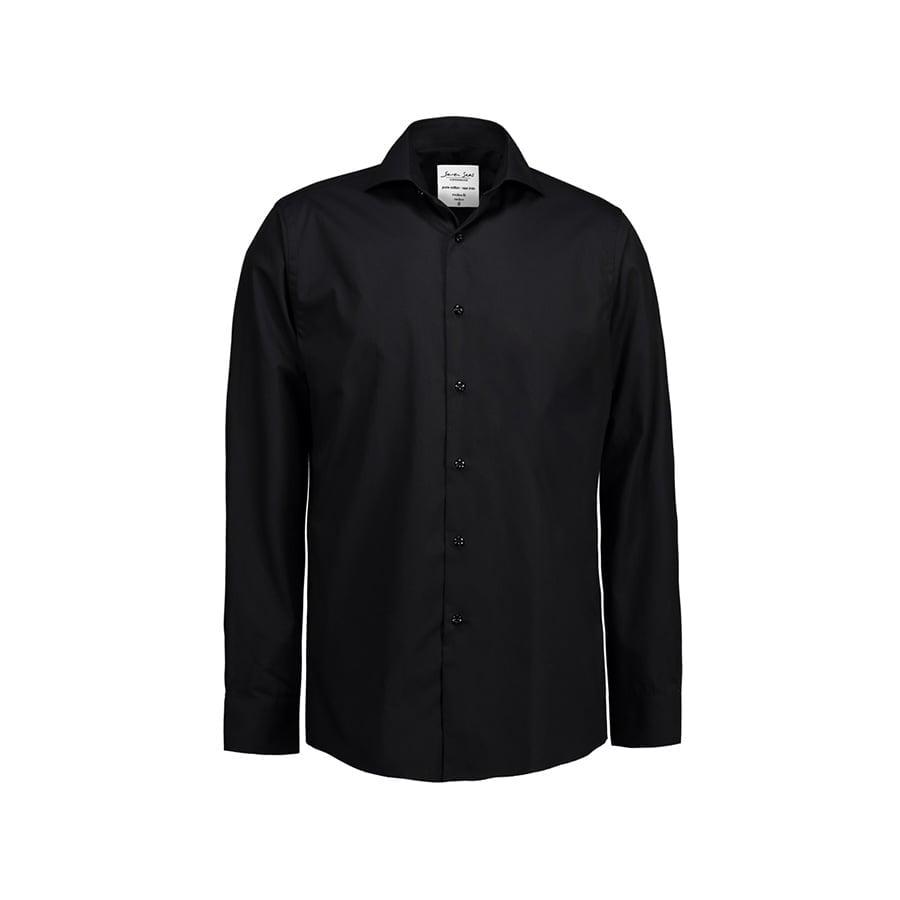 Koszule i bluzki - Biznesowa koszula z tkaniny fine twill SS8 - Seven Seas SS8 - Black - RAVEN - koszulki reklamowe z nadrukiem, odzież reklamowa i gastronomiczna