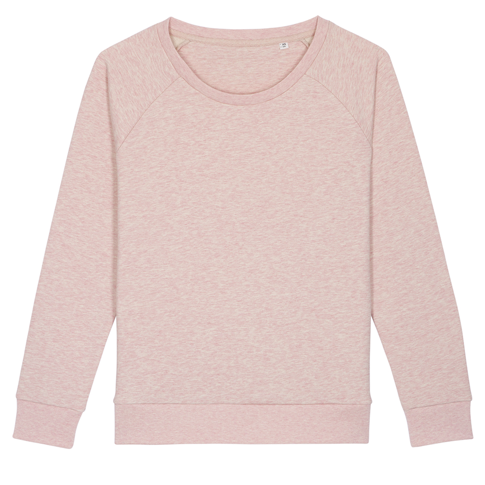 Bluzy - Damska bluza Stella Dazzler - STSW125 - Cream Heather Pink - RAVEN - koszulki reklamowe z nadrukiem, odzież reklamowa i gastronomiczna