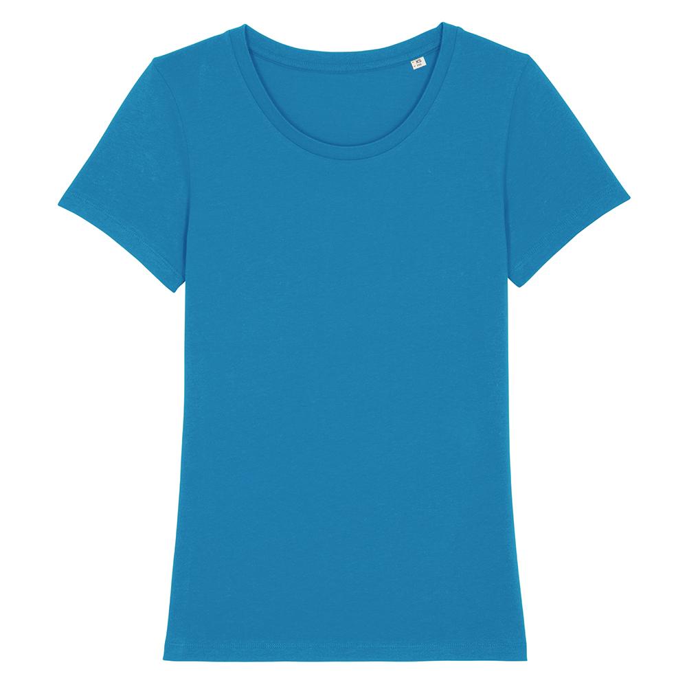 Koszulki T-Shirt - Damski T-shirt Stella Expresser - STTW032 - Azure - RAVEN - koszulki reklamowe z nadrukiem, odzież reklamowa i gastronomiczna