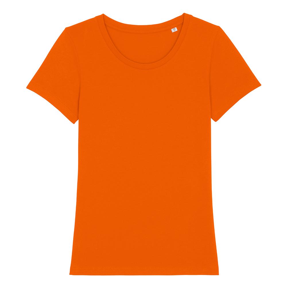 Koszulki T-Shirt - Damski T-shirt Stella Expresser - STTW032 - Bright Orange - RAVEN - koszulki reklamowe z nadrukiem, odzież reklamowa i gastronomiczna