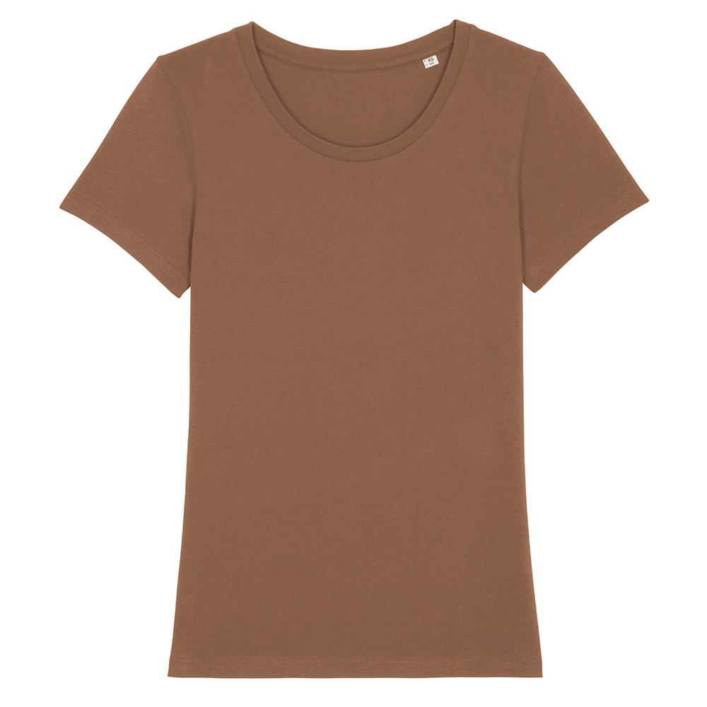 Koszulki T-Shirt - Damski T-shirt Stella Expresser - STTW032 - Caramel - RAVEN - koszulki reklamowe z nadrukiem, odzież reklamowa i gastronomiczna