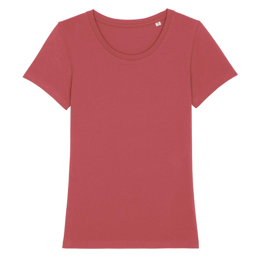 Koszulki T-Shirt - Damski T-shirt Stella Expresser - STTW032 - Carmine Red - RAVEN - koszulki reklamowe z nadrukiem, odzież reklamowa i gastronomiczna