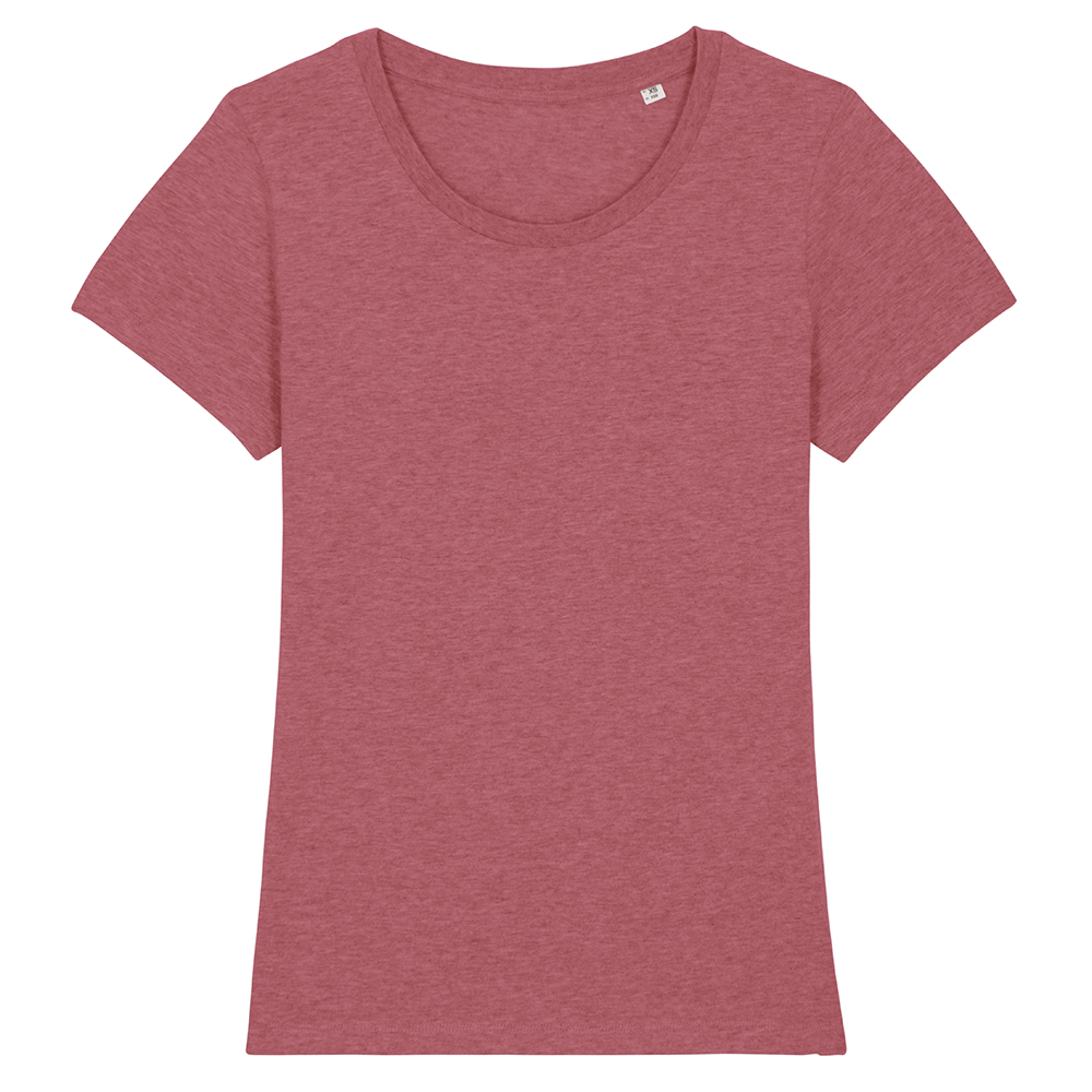 Koszulki T-Shirt - Damski T-shirt Stella Expresser - STTW032 - Heather Cranberry - RAVEN - koszulki reklamowe z nadrukiem, odzież reklamowa i gastronomiczna