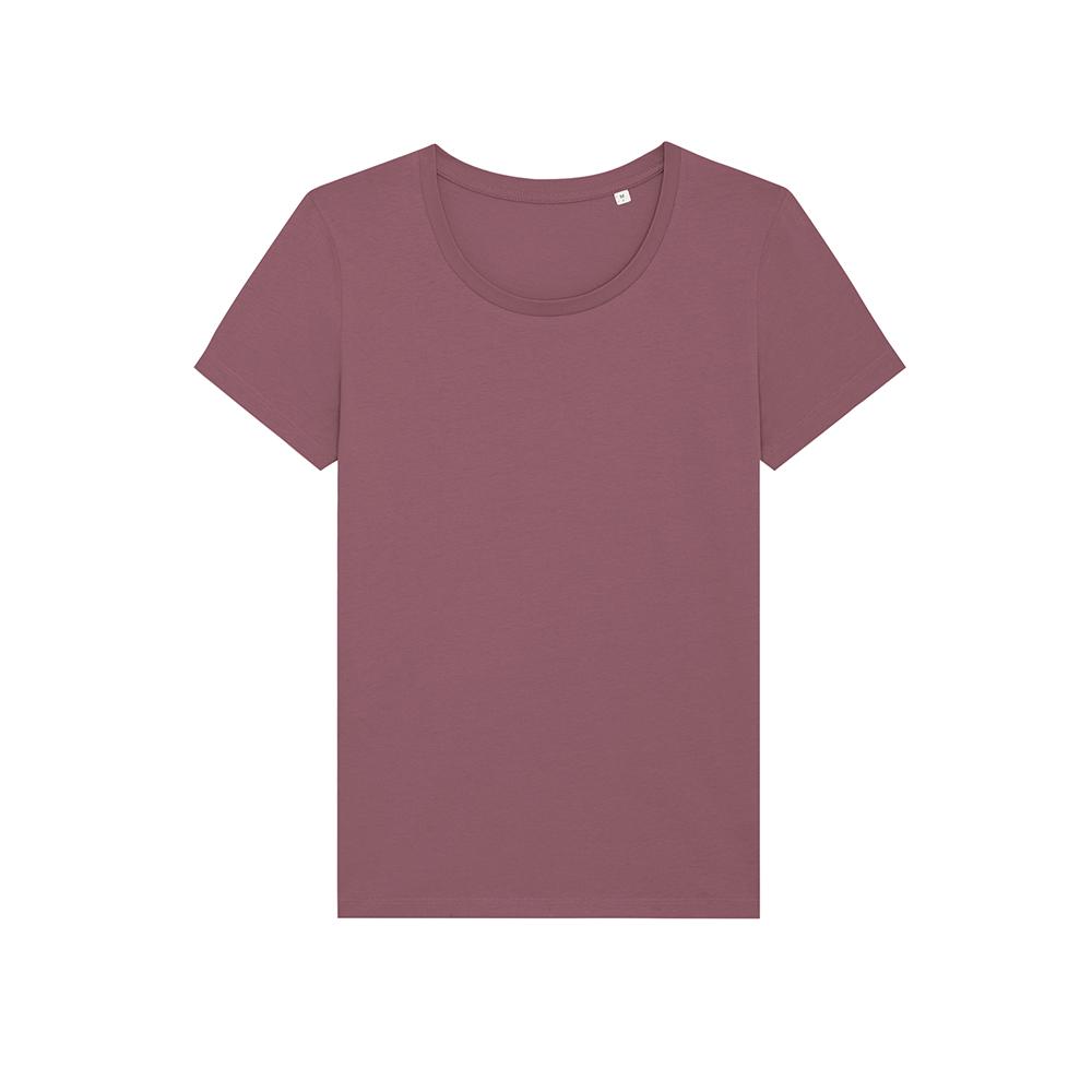 Koszulki T-Shirt - Damski T-shirt Stella Expresser - STTW032 - Hibiscus Rose - RAVEN - koszulki reklamowe z nadrukiem, odzież reklamowa i gastronomiczna