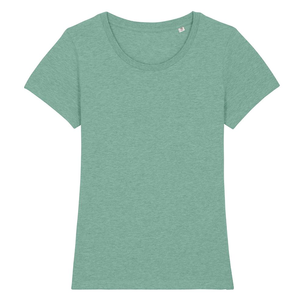 Koszulki T-Shirt - Damski T-shirt Stella Expresser - STTW032 - Mid Heather Green - RAVEN - koszulki reklamowe z nadrukiem, odzież reklamowa i gastronomiczna