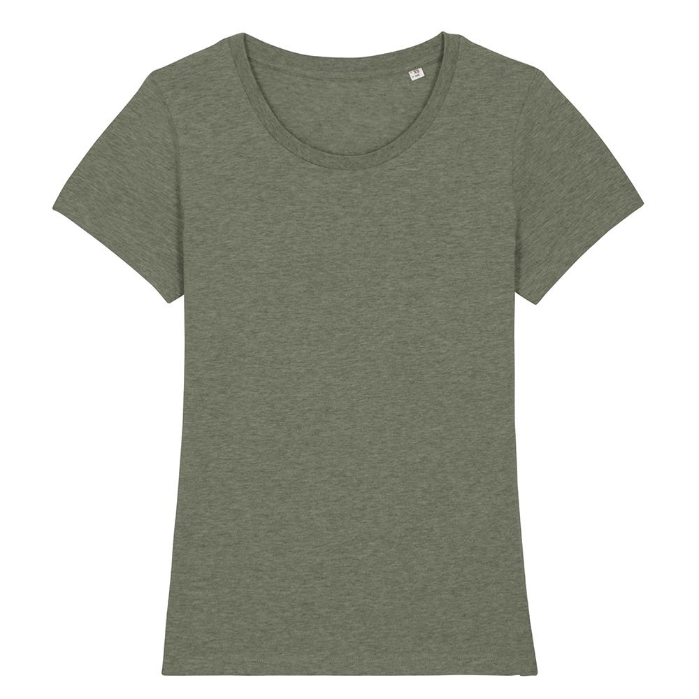 Koszulki T-Shirt - Damski T-shirt Stella Expresser - STTW032 - Mid Heather Khaki - RAVEN - koszulki reklamowe z nadrukiem, odzież reklamowa i gastronomiczna