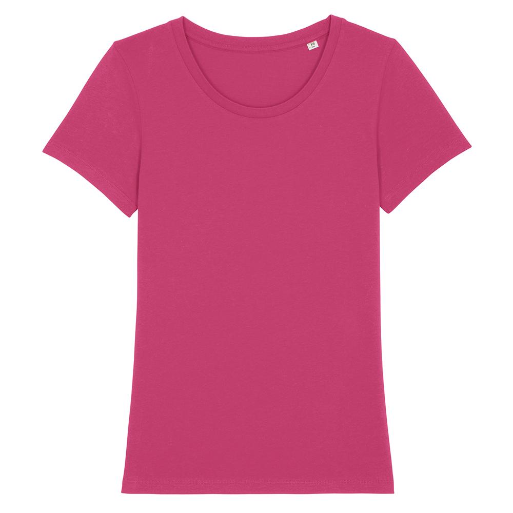Koszulki T-Shirt - Damski T-shirt Stella Expresser - STTW032 - Raspberry - RAVEN - koszulki reklamowe z nadrukiem, odzież reklamowa i gastronomiczna