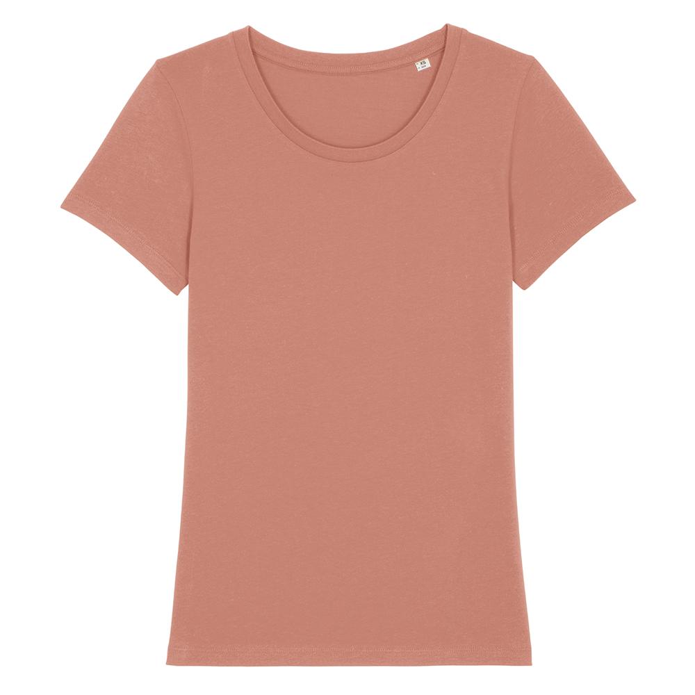 Koszulki T-Shirt - Damski T-shirt Stella Expresser - STTW032 - Rose Clay - RAVEN - koszulki reklamowe z nadrukiem, odzież reklamowa i gastronomiczna