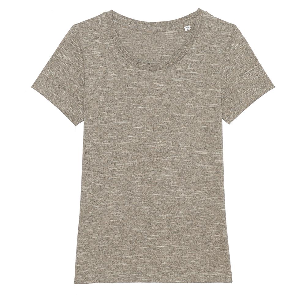 Koszulki T-Shirt - Damski T-shirt Stella Expresser - STTW032 - Wooden Heather - RAVEN - koszulki reklamowe z nadrukiem, odzież reklamowa i gastronomiczna