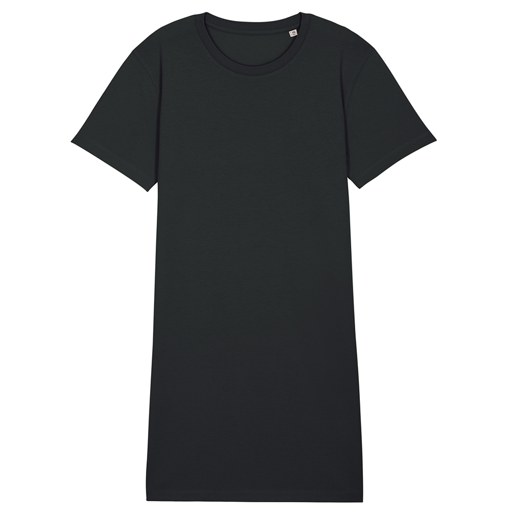 Koszulki T-Shirt - Damski t-shirt sukienka Stella Spinner - STDW144 - Black - RAVEN - koszulki reklamowe z nadrukiem, odzież reklamowa i gastronomiczna