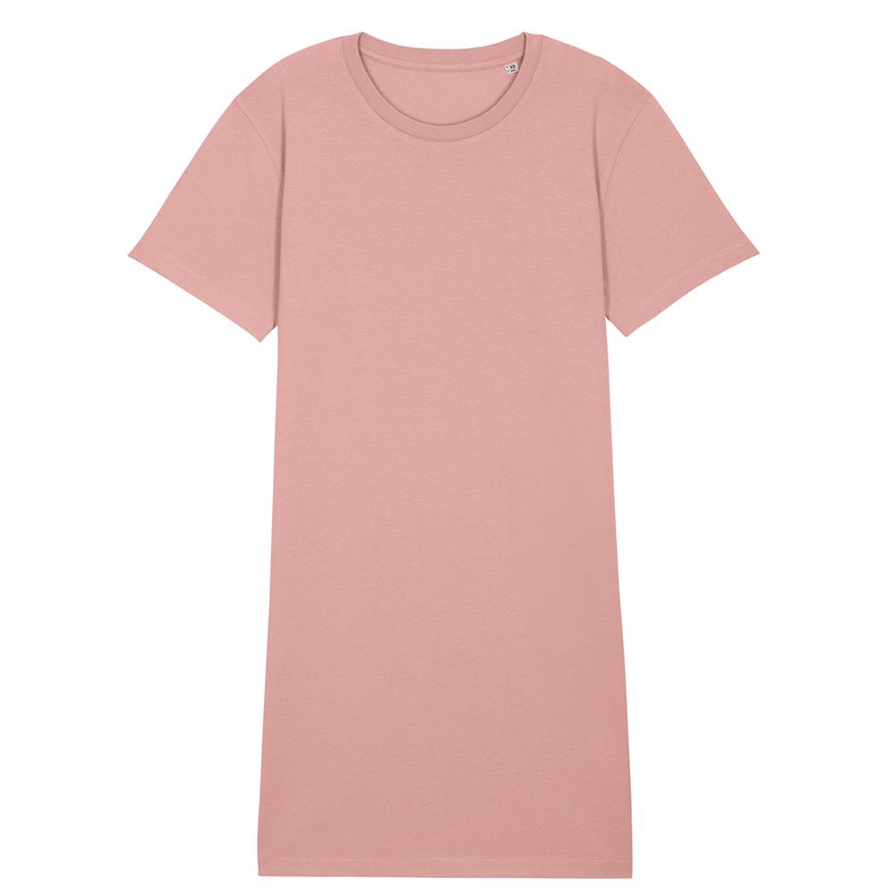 Koszulki T-Shirt - Damski t-shirt sukienka Stella Spinner - STDW144 - Canyon Pink - RAVEN - koszulki reklamowe z nadrukiem, odzież reklamowa i gastronomiczna