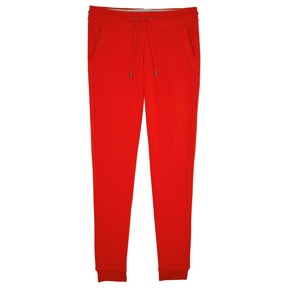 Spodnie - Damskie Spodnie Stella Traces - STBW129 - Bright Red - RAVEN - koszulki reklamowe z nadrukiem, odzież reklamowa i gastronomiczna
