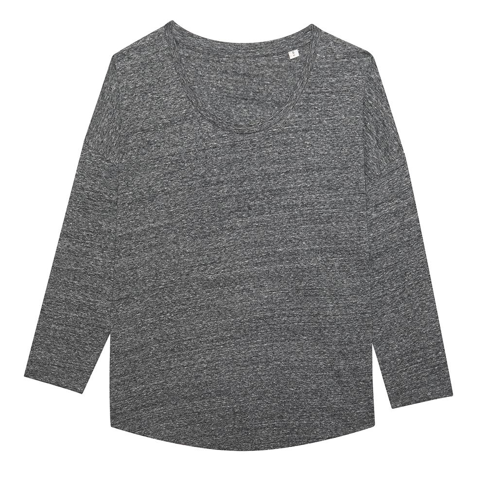 Koszulki T-Shirt - Damski t-shirt Stella Waver Slub - STTW114 - Slub Heather Steel Grey - RAVEN - koszulki reklamowe z nadrukiem, odzież reklamowa i gastronomiczna