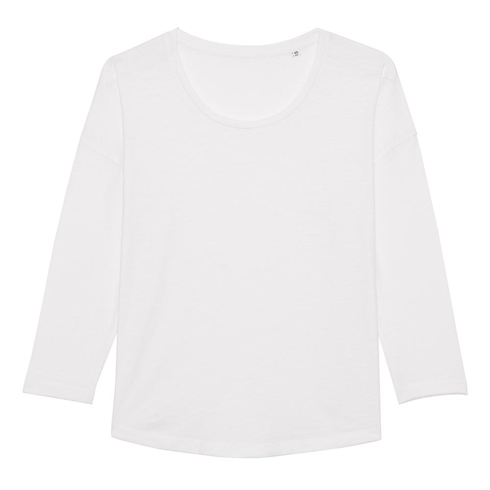 Koszulki T-Shirt - Damski t-shirt Stella Waver Slub - STTW114 - White - RAVEN - koszulki reklamowe z nadrukiem, odzież reklamowa i gastronomiczna