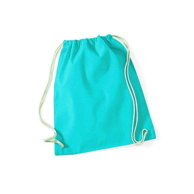Torby i plecaki - Worek festiwalowy Cotton Gym - W110 - Surf Blue - RAVEN - koszulki reklamowe z nadrukiem, odzież reklamowa i gastronomiczna