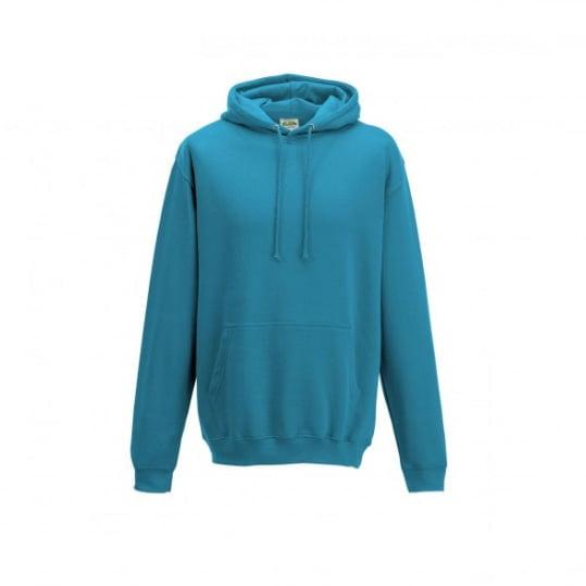 Bluzy - Bluza z kapturem College - Just Hoods JH001 - Turquise Surf - RAVEN - koszulki reklamowe z nadrukiem, odzież reklamowa i gastronomiczna