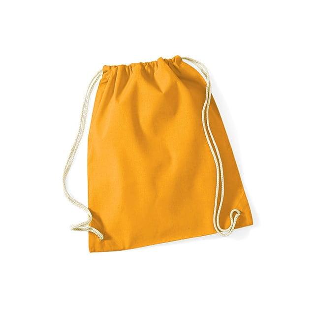 Torby i plecaki - Worek festiwalowy Cotton Gym - W110 - Mustard - RAVEN - koszulki reklamowe z nadrukiem, odzież reklamowa i gastronomiczna