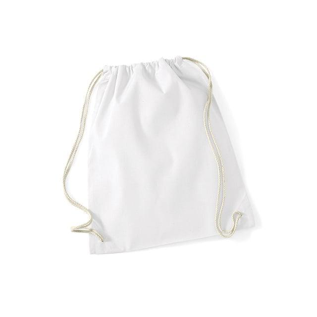 Torby i plecaki - Worek festiwalowy Cotton Gym - W110 - White - RAVEN - koszulki reklamowe z nadrukiem, odzież reklamowa i gastronomiczna