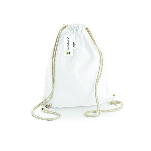 Torby i plecaki - EarthAware™ Organic Gymsac - W810 - White - RAVEN - koszulki reklamowe z nadrukiem, odzież reklamowa i gastronomiczna